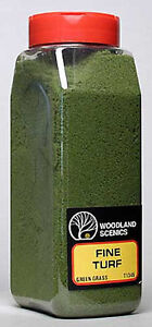 NEW Woodland Scenics Turf Fine Green Grass 32 oz T1345 NIB