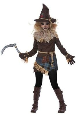 ruselig Vogelscheuche Spielfeld Tween Mädchen Halloween 04097 (Tween-mädchen Kostüme)