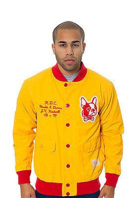 Hawke & Dumar Yellow Red Junior Varsity 30's Football Stadium Field Jacket NWT - Junior Varsity Jacket