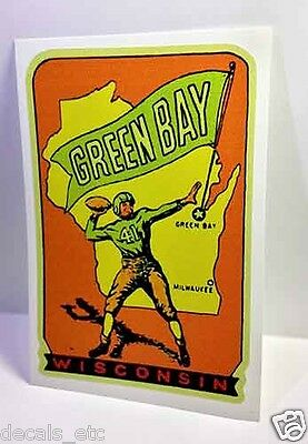 Green Bay Wisconsin Vintage Style Travel Decal / Vinyl Sticker, Luggage Label