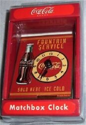 COCA COLA COKE CLOCK MATCHBOOK DESK TOP Distressed Aged NEW