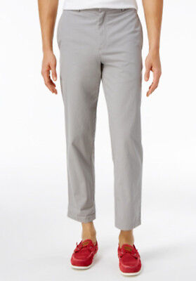 - TOMMY HILFIGER Mens Rivington Cropped Bottom Grey PANTS NEW 38 capri