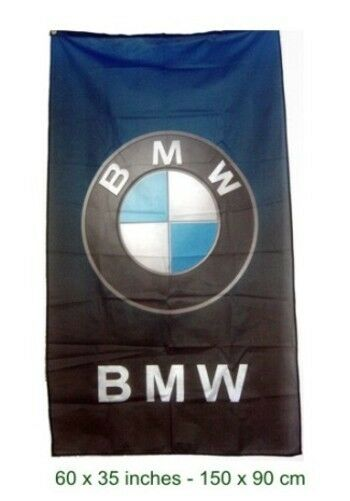 FREE SHIP TO USA BMW FLAG blue to black  BANNER VERTICAL POWER 3x5 FEET M5 M6 M3