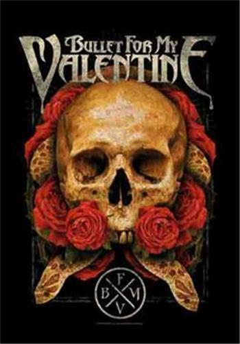 """BULLET FOR MY VALENTINE Rock flag/ Tapestry/ Fabric Poster  """"Serpent Roses""""  NEW"""