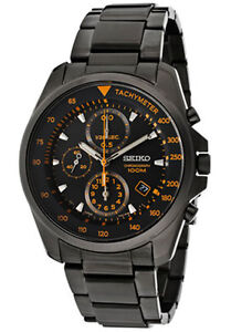 Seiko-SNDD65-SNDD65P1-Mens-Chronograph-Watch-BLACK-Gun-Metal-RRP-550-00
