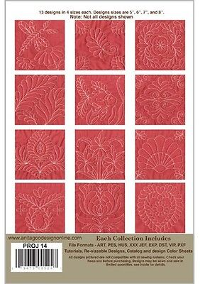 Trapunto Blocks Anita Goodesign Embroidery Design cd CD ONLY