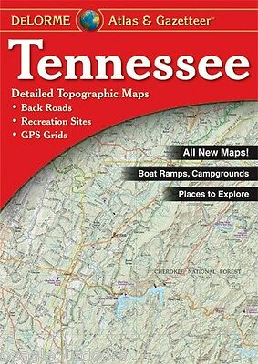 NEW Delorme Tennessee TN Atlas and Gazetteer Topo Road Map Topographic Maps