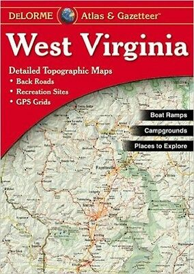 NEW Delorme West Virginia WV Atlas and Gazetteer Topo Road Map Topographic Maps