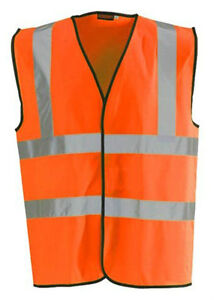 Orange-Hi-Vis-High-Viz-Visibility-Vest-Waistcoat-Jacket-Safety-EN471-Work-Size