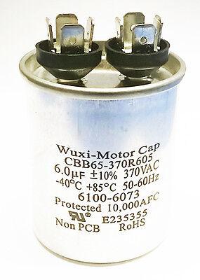 Motor Run Capacitor 6uF 370 VAC 10% CBB65-370R605 NEW (1 piece)