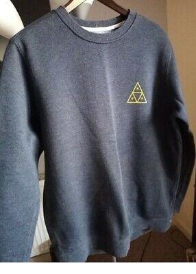 Navy Grey HUF Sweatshirt Size L Cotton Good Condition