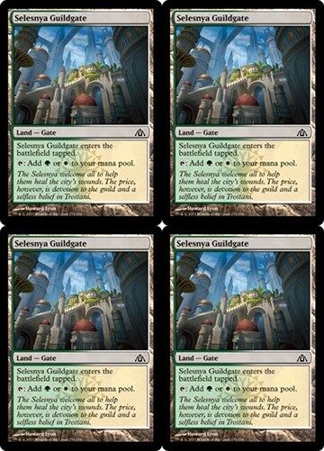 4x AZORIUS GUILDGATE Dragon/'s Maze MTG Land—Gate Com