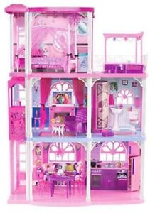 Barbie 3 Story Dream Doll House PLUS additional Barbies - $100