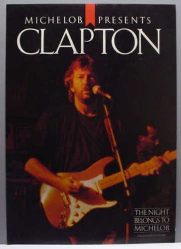 RARE 1987 ERIC CLAPTON POSTER - MINT CONDITION! FREE SHIPPING!