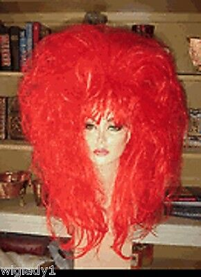 SIN CITY COSTUME WIGS WILD RED HOT BIG HAIR LONG THICK FULL FUNKY HALLOWEEN HOT
