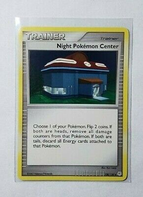 Night Pokemon Center Trainer Card, Diamond and Pearl set 108/130 Good -