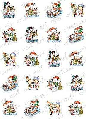 Christmas Snow Scenes (20 CHRISTMAS NAIL DECALS * SNOW SCENES * ASSORTED WATER SLIDE NAIL DECALS)