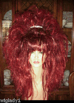 Red Spikey Wig (EMPRESS BIANCA DRAG QUEEN TEASED LONG STRAIGHT SEXY RED VOLUME LAYERS SPIKEY)