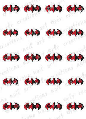 20 NAIL TRANSFER DECALS * DC COMICS HARLEY QUINN* BATMAN WATER SLIDE NAIL DECALS](Harley Quinn Nails)