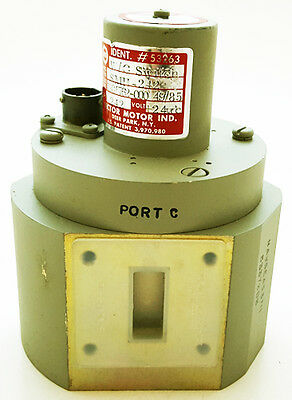Microwave 3 Port Waveguide Switch 24 VDC NOS Sector Motor Ind. SMH-242 (1 pc)