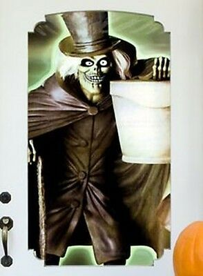 2008 DISNEY SHOPPING HAUNTED MANSION HALLOWEEN VINYL WINDOW & WALL POSTER DECOR