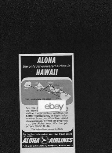 ALOHA AIRLINES 1965 THE ONLY FAIRCHILD F-27