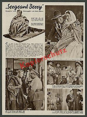 "Fotobericht Hans Albers ""Sergeant Berry"" Film Abenteuer Tobis Kino Berlin 1938"