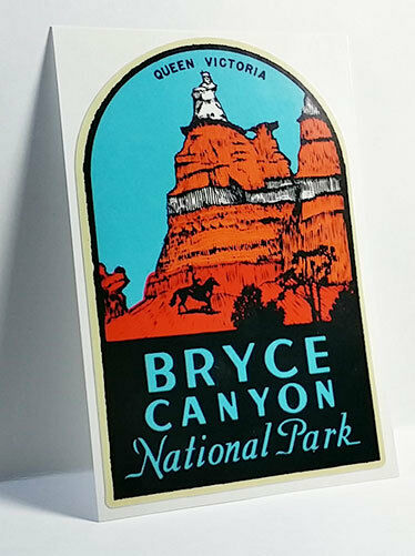 Bryce Canyon National Park Utah Vintage Style Decal, Vinyl Sticker,Luggage Label