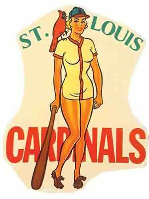 St  Louis Cardinals  Baseball  Mlb   Vintage Style 1950S  Travel Decal Sticker