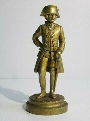 Vintage Statue Wooden Figure Napoleon With Patina Golden Period Xx Century
