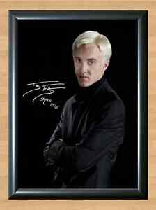 Draco Malfoy Tom Felton Harry Potter Signed Autographed A4 Poster Print Photo