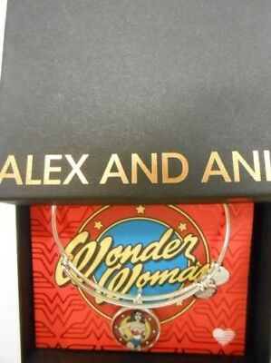 Alex And Ani Wonder Woman Logo Armreif Armband Rafaelian Silber oder Gold Nwtbc ()