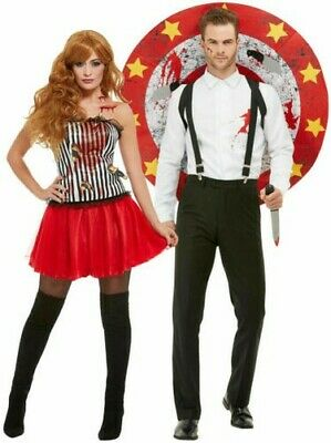 Adults Deluxe Knife Throwers Assistant Costume Fancy Dress Vinatge Circus