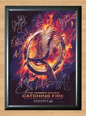 The Hunger Games Catching Fire Cast x12 Signed Autographed A4 Photo Print Poster (Hunger Games Dekorationen)