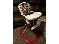 Retro fold down high chair