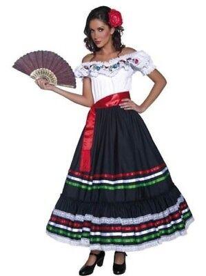 Damen West Senorita Kostüm Wilder Westen Zigeuner Mexikanisch - Zigeuner Outfit