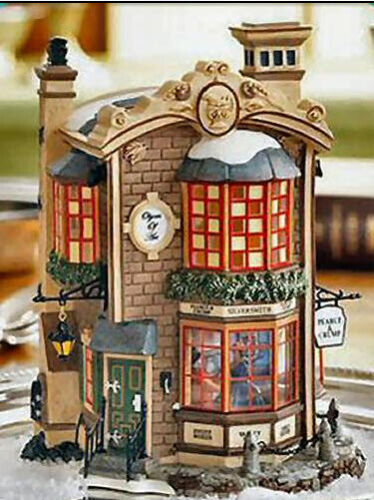 DICKENS VILLAGE Dept 56 PEARCE & CRUMP SILVERSMITHS 58758 NEW 2007 Limited Ed.