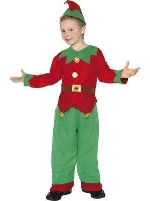 Kinder Grün & Rot Elfen Kostüm Kinder Weihnachtskleidung - Junge Elfen Kostüme