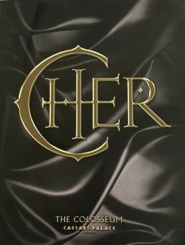 Cher Caesars Palace Program with Commemorative Cover Very Best Of Cher CD Sealed
