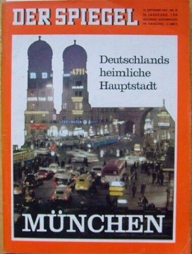 SPIEGEL 39/1964 München, die heimliche Hauptstadt Deutschlands