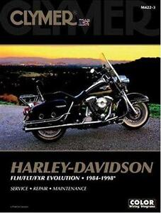 1984-1998 Harley FLH FLT FXR FXEF Evolution Clymer Repair Service Manual M4223
