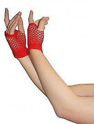 Neu Rot Fischnetz Handschuhe