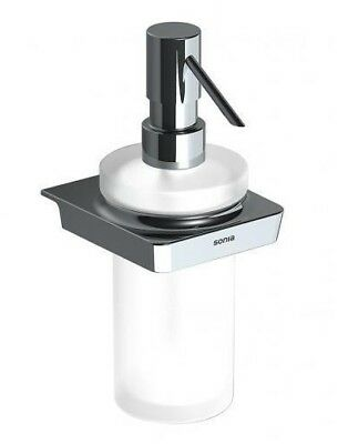 Sonia S6 WALL MOUNTED SOAP DISPENSER 188x82mm Frosted Glass CHROME