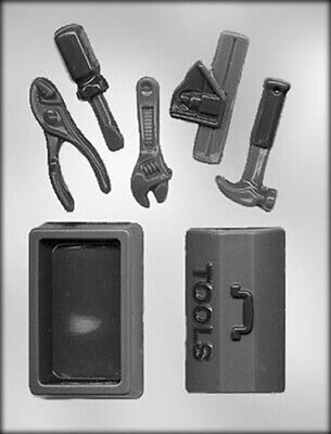 Carpenter Tools and 3D Tool Box Chocolate Candy Mold Contractor Construction (3d Chocolate Candy Mold)