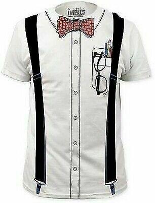 Nerd T-Shirt Lustig Fliege Student Schule Kostüm Outfit T-Shirt - Nerd Kostüm Shirt