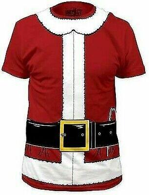 Weihnachtsmann Weihnachten Urlaub Rot Grün Kostüm Outfit T-Shirt S-2XL