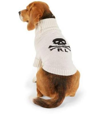 Ralph Lauren Halloween Polo (RALPH LAUREN POLO Skull & Crossbones Dog Sweater S 4-7 lbs $115 Cream)