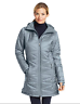 New Columbia Women's Mighty Lite Hooded Down Jacket Tradewinds Grey. XS /X Small