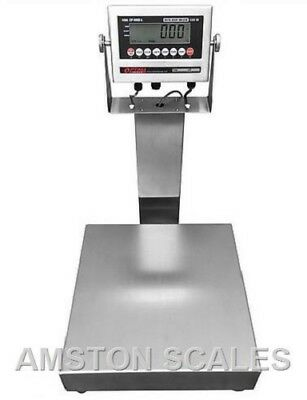 Stainless Steel 12x12 100 Lb Digital Scale Shipping Food Warehouse Bench Op