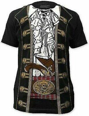 Captain Jack Sparrow Piraten Prinz Kostüm Outfit T-Shirt S-3XL